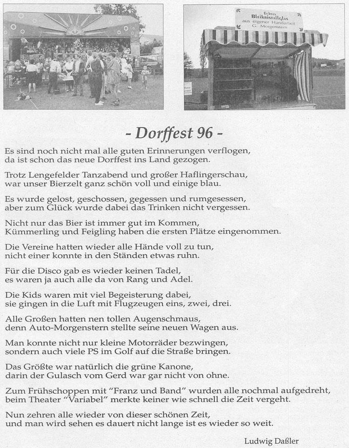 Bild: teichler Wünschendorf Erzgebirge  Dorffest 1996 Daßler
