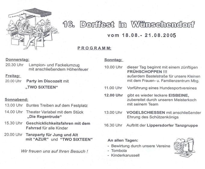 Bild: Teichler Wünschendorf Erzgebirge Dorffest 2005