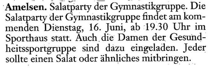 Gesehen in der Einbecker Morgenpost vom 12.06.09