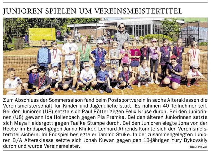 Tennisschule Raffael van Deest UG Vereinsmeisterschaften Sommer 2019 PSV Leer
