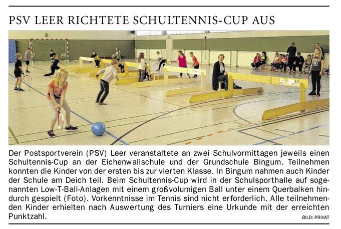 Tennisschule Raffael van Deest staatlich geprüfter Tennislehrer (VDT) B-Trainer (DTB) Tennisregion Dollart-Ems-Vechte Presse