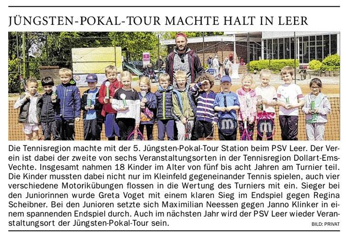 Tennisschule Raffael van Deest UG Anton Meyer Jüngsten-Pokal-Tour Sommer 2019 PSV Leer