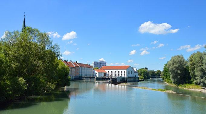 Stausee in Kempten im Allgäu