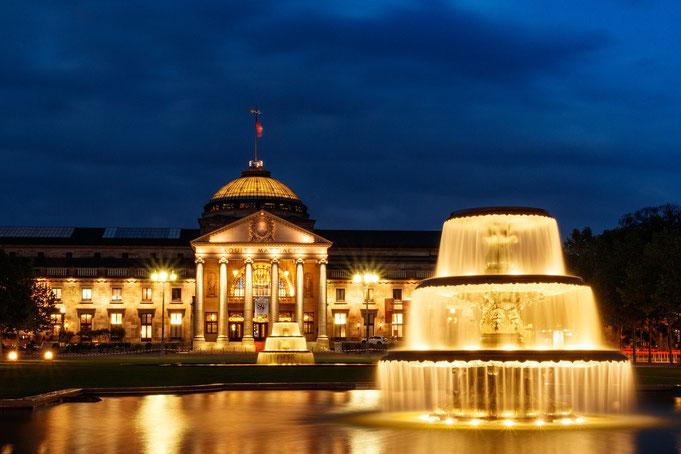 Kurhaus blaue Stunde in Wiesbaden