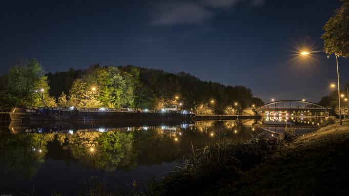 Kanal in Oberhausen im Ruhrgebiet