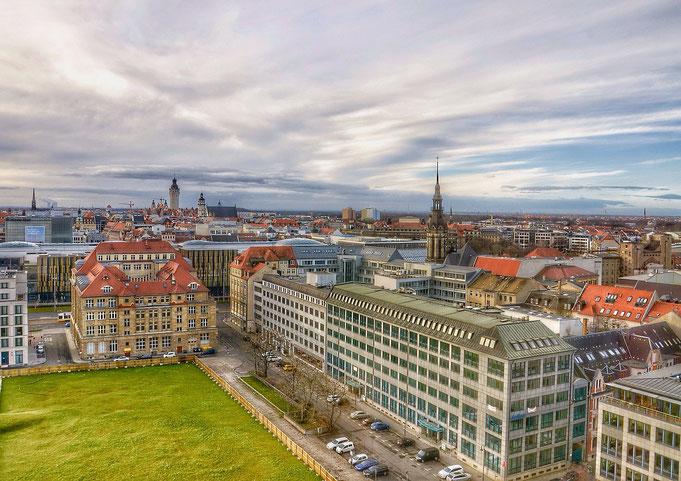 Stadt Leipzig - Flugbild