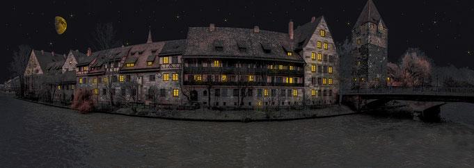Partymode on - in Nürnberg - Altstadt bei Nacht
