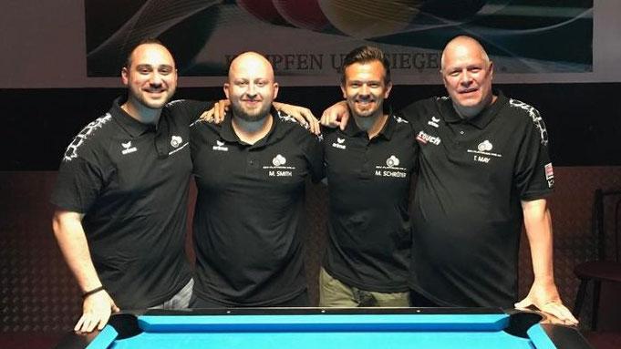 v.l.n.r.: Marcel Kosta, Michael Smith, Matthias Schröter, Thomas May