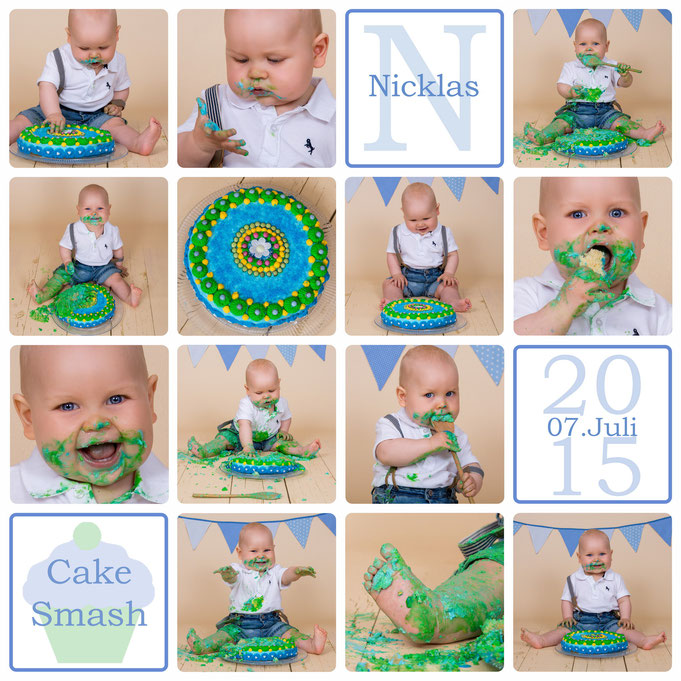 Cake Smash, Nicklas, 11 Monate alt