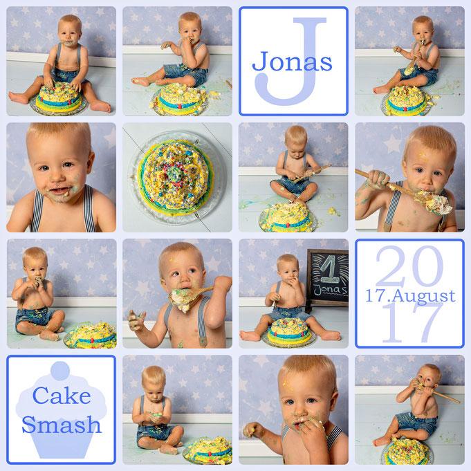 Cake Smash, Jonas 12 Monate alt