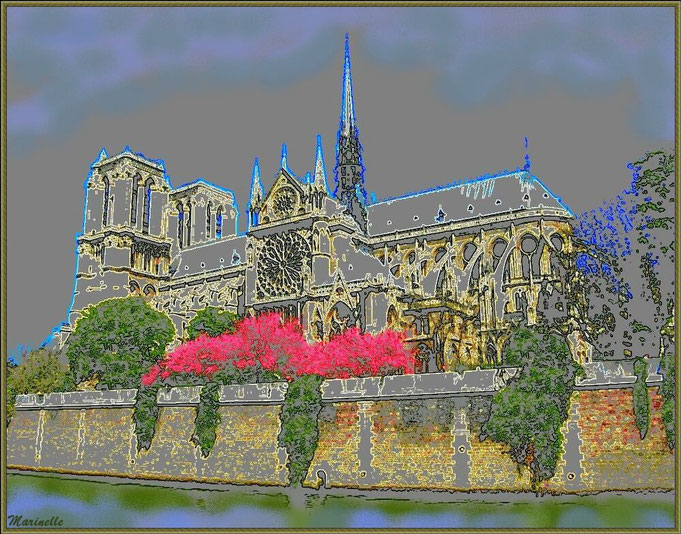 La Cathédrale Notre Dame de Paris avant son incendie du 15/04/2019