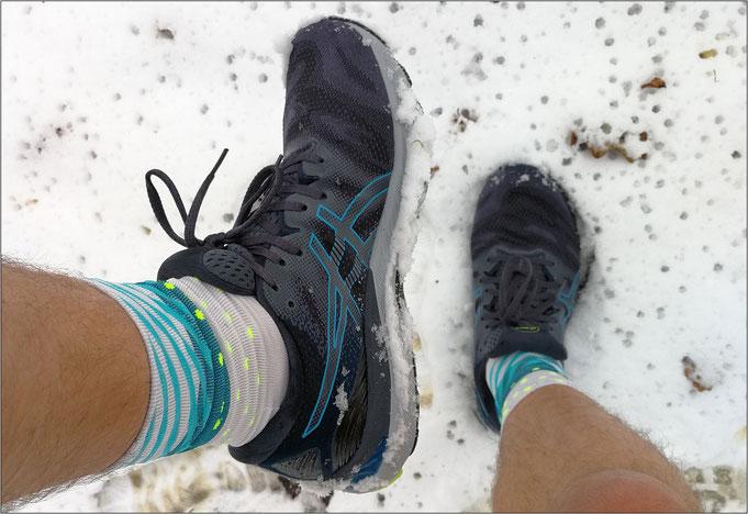 Sogar auf schneebedeckten Untergründen einsetzbar.