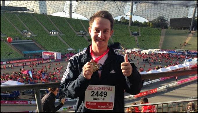 """""""Das waren Emotionen pur"""", beschreibt Dominik seinen ersten Marathon."""