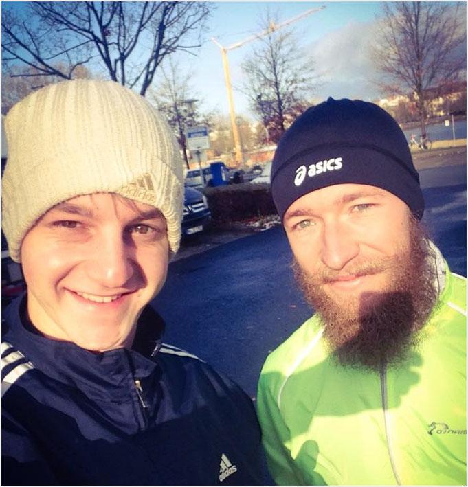 Dominik zusammen mit Johannes.