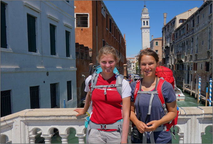 Geschafft! In Venedig angekommen. Bildquelle: 2muve.de