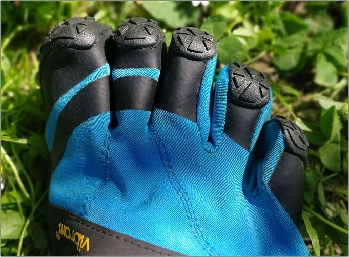 Die einzelnen Zehen sind richtig gut geschützt!