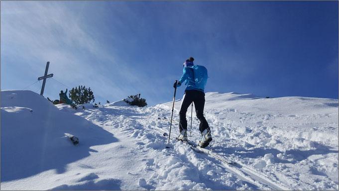 Höhenmeter satt! Hier auf einer ihrer Skitouren. Bildquelle: Eva