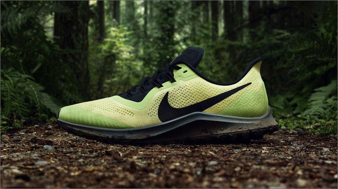 Mit dem Pegasus 36 Trail geht es ab ins Gelände! Bildquelle: Nike
