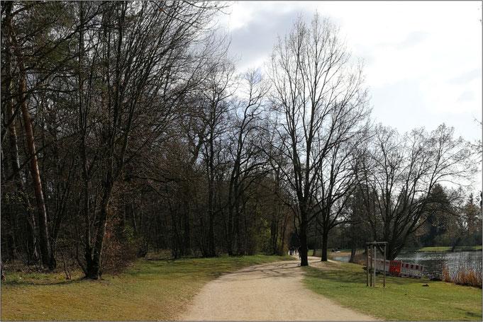Die Strecke am Schweinfurter Baggersee.