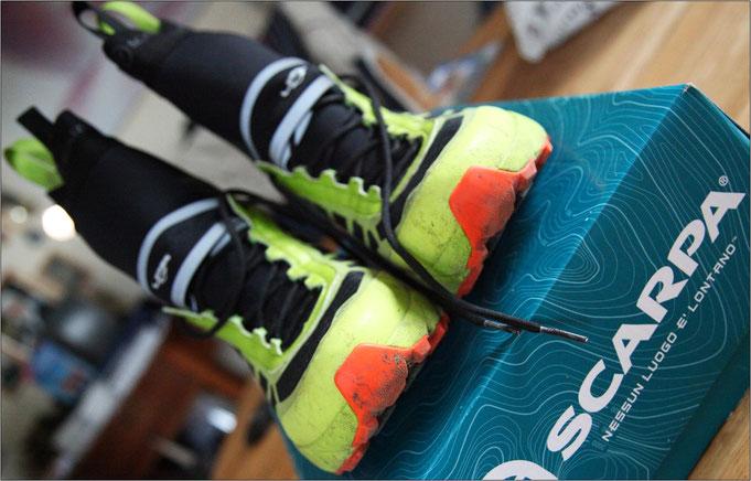 Ein markanter Schuh für sehr spezielle Einsätze.