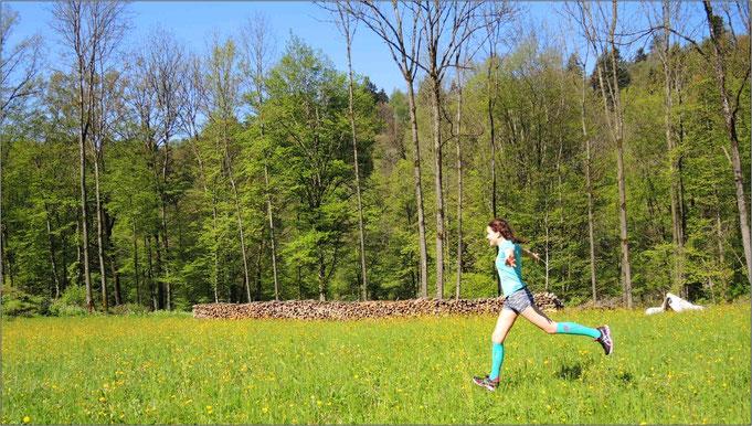 Das Laufen hat für sie mittlerweile einen hohen Stellenwert. Bildquelle: Monika