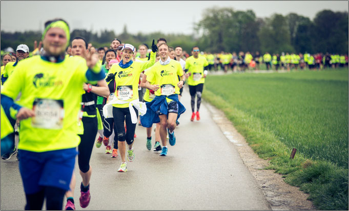 Beim WfLWR startet jeder Teilnehmer zur gleichen Zeit. Bildquelle: Marc Müller for Wings for Life World Run