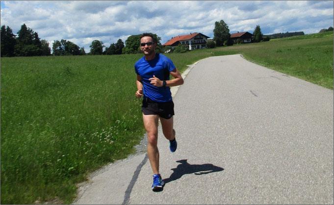 Beim 54 KM-Longrun um den Tegernsee.