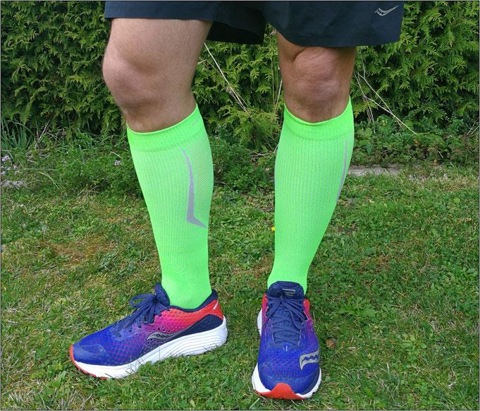 Die Socken überzeugen farblich genauso.