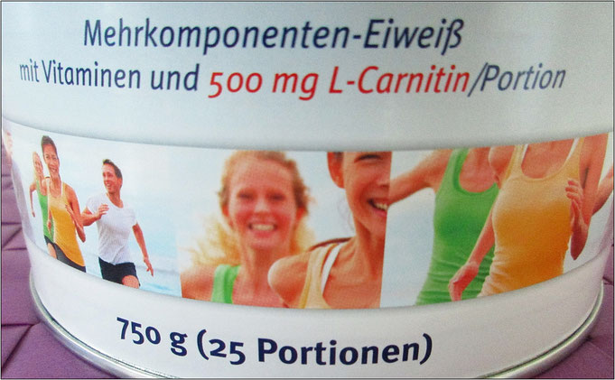 Mit Höchstdosis L-Carnitin: 500 mg pro Portion