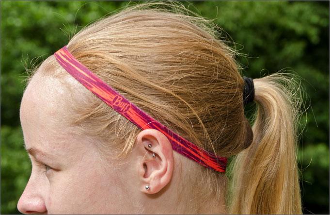 Die Haarbänder passen sich dem Kopf an - ohne zu drücken.