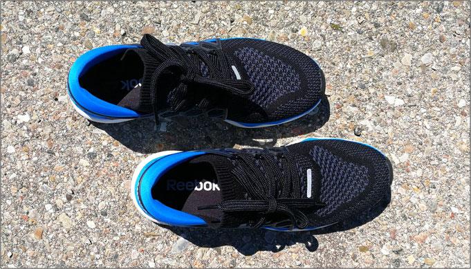 Der Reebok-Schuh ist vergleichsweise schmal geschnitten.