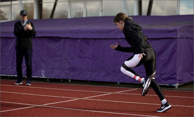 Sophie Hahn beim Training. Bildquelle: Nike