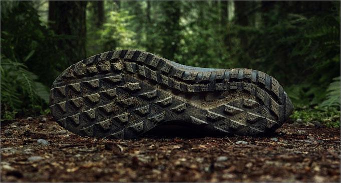 Die Sohle ist für unebene Laufwege gedacht. Bildquelle: Nike