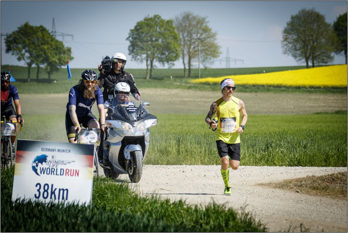Flow bei km 38 im Jahr 2016 in München. Bildquelle: Flo Hagena for Wings for Life World Run