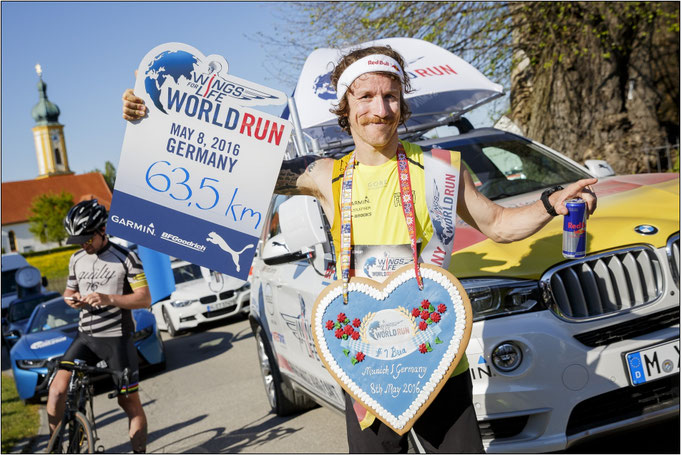 Sieger im Jahr 2016 in München. Bildquelle: Flo Hagena for Wings for Life World Run