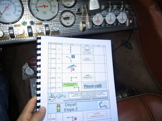 Roadbook Acasienne rallye VHC course