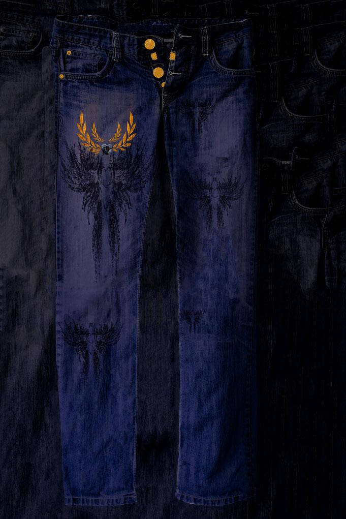 "Roland Carlos,  Jeans  "" Black Bird """
