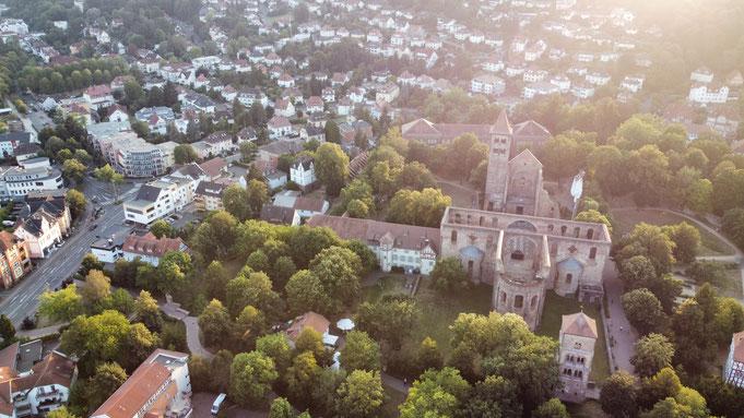 Luftbildaufnahme Stiftsruine Bad Hersfeld