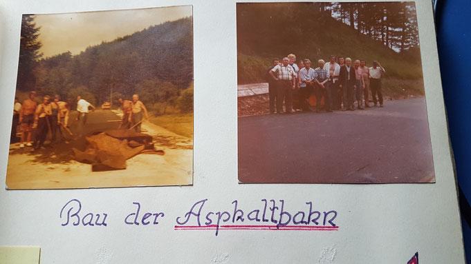 Bau der 1. Asphaltbahn in Köttlach (1975)