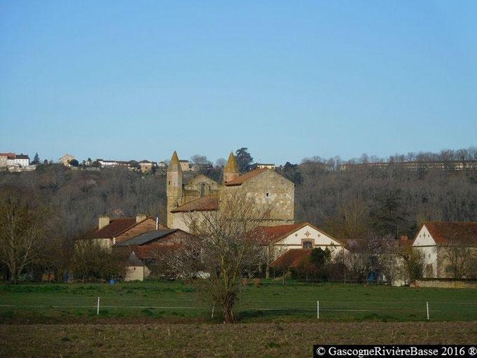 Eglise romane de Mazères commune de Castelnau Rivière-Basse