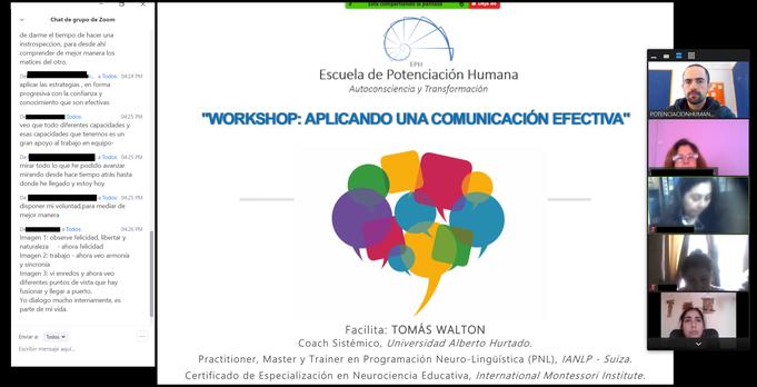 """Workshop """"Aplicando una Comunicación Efectiva"""""""
