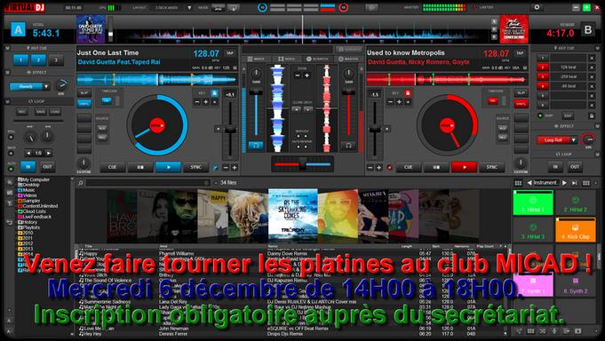Affiche de l'atelier DJ 2017