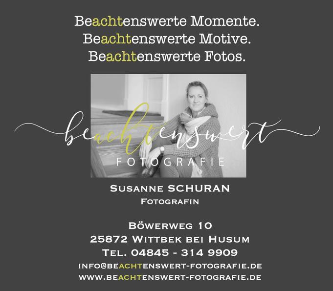 beachtenswert fotografie, Susanne Schuran, Kontakt, Fotograf, Nordfriesland, Kinderfotografie, Immobilienfotografie, Produktfotografie