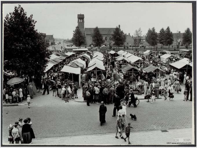 Markt vanEmmeloord 1957