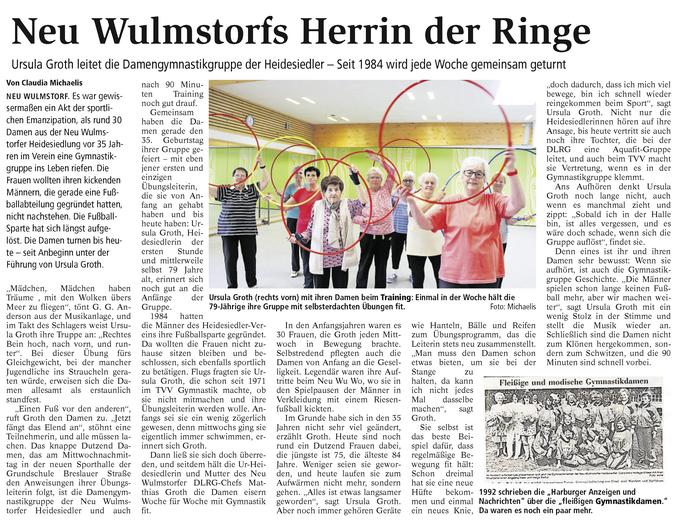 Artikel im Buxtehuder Tageblatt vom 10. Oktober 2019