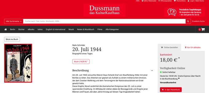 Am 20.Juli-1944 versucht Oberst-Claus-Schenk-Graf-von-Stauffenberg Hitler mit eine Bombe zu töten. Das Attentat ist Auftakt zu einem militärischen Umsturz, der den Zweiten-Weltkrieg beenden soll. Niels-Schröder präsentiert eine neue Graphic-Novel.