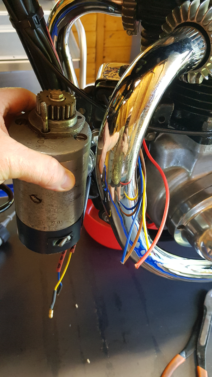 Recondition  DYNAMO E3H RD Anti Clock and Regulator change to electronic.