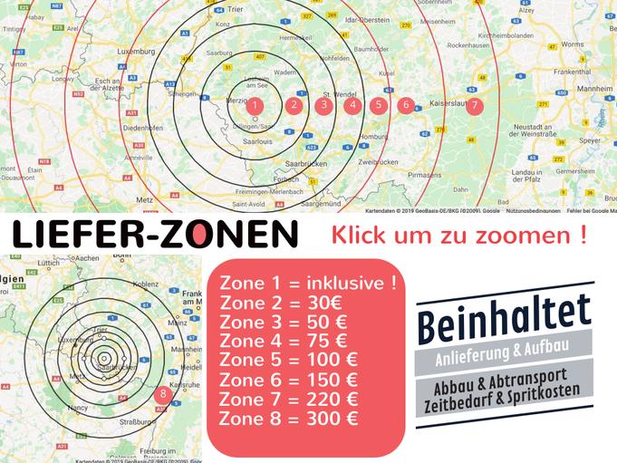 Lieferung & Dienstleistung - Zonen