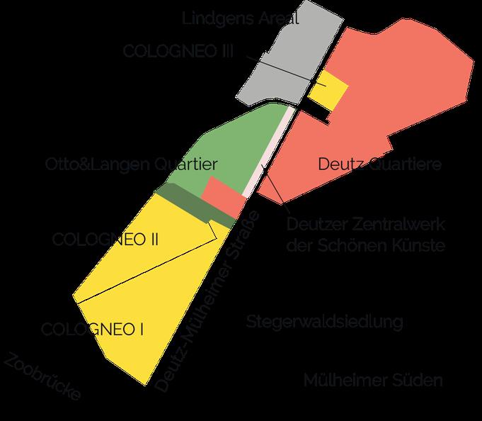 Lageplan Mülheimer Süden. Illustration: Eva Rusch