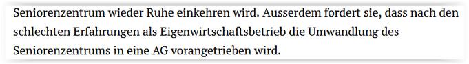 Auszug aus Stellungnahme der FDP im Zofinger Tagblatt vom 1.6.2021